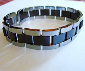 Men Bracelet Tungsten Carbide Bar Link