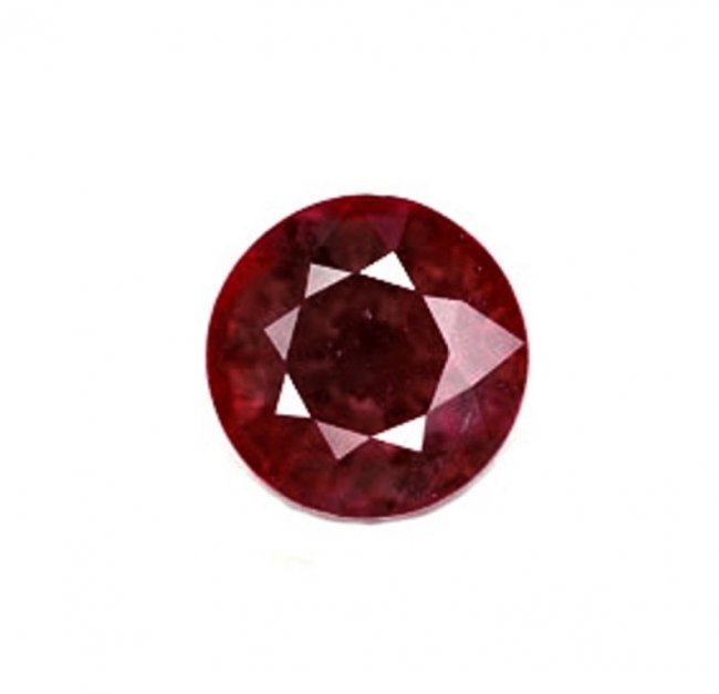 Loose Ruby Round Shape 3.12 CT 8x5.6MM