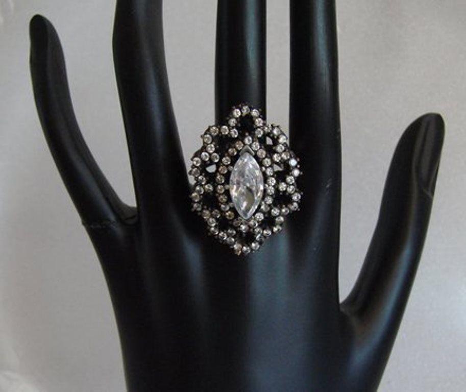 Creation, Diamond Antique Ring: 3.84 CT 18k Overlay