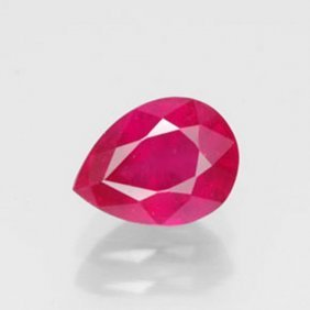 Natural Ruby Pear Shape 2.83ct 9.1x7.2x5.4 Mm