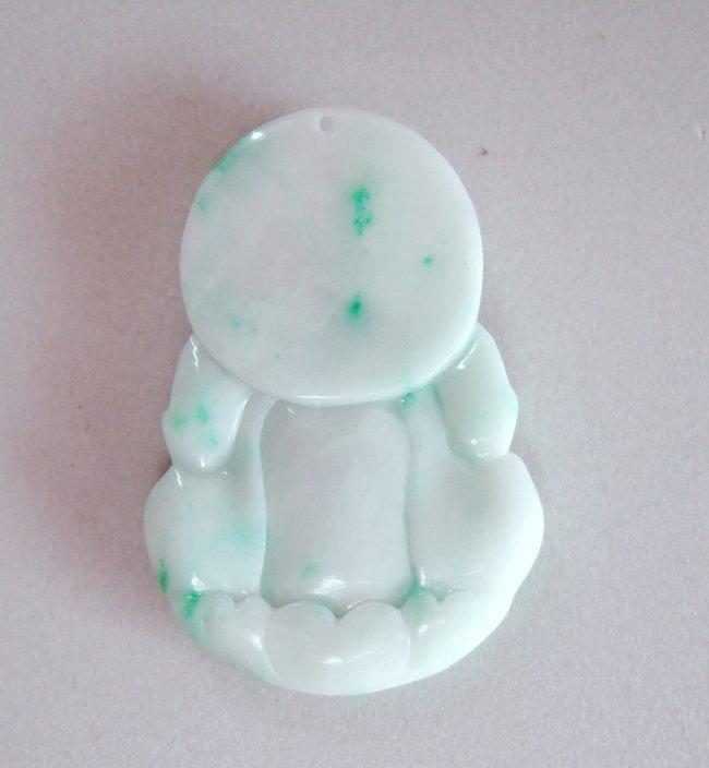 Guanyin Buddha Natural Jade Jadeite Grage A - 5