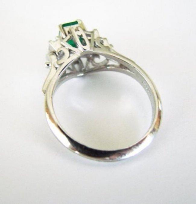 Emerald: .33CT, Diamond: .18CT, Ring Platinum - 3