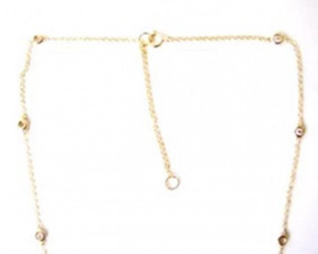 Ceation Diamond Tiffany Chain .90Ct 18k Y/g Overlay - 3