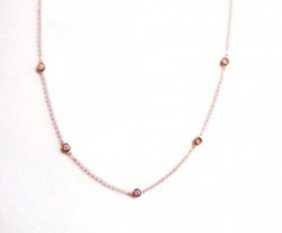 Ceation Diamond Tiffany Chain .90Ct 18k R/g Overlay - 2