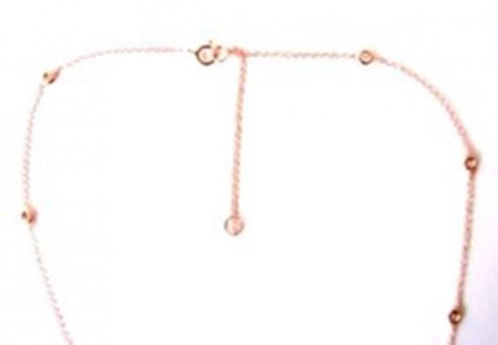 Ceation Diamond Tiffany Chain .90Ct 18k R/g Overlay - 3
