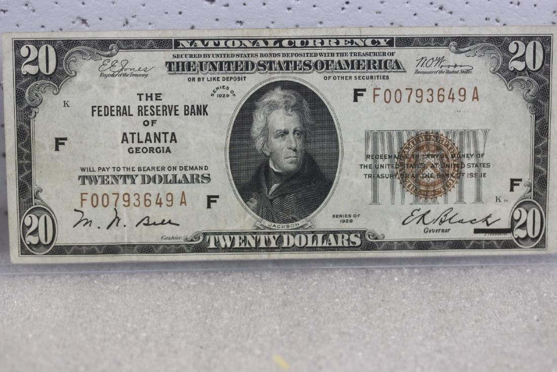 A $20.00 Atlanta, Georgia Federal Reserve Bank Note -