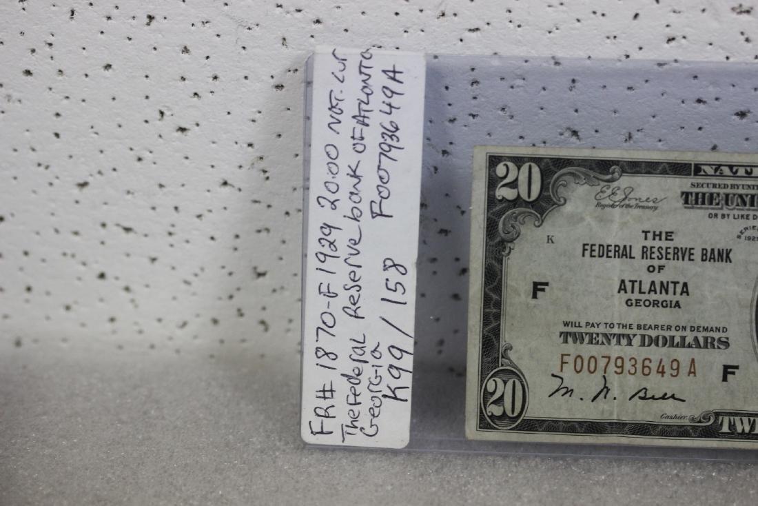 A $20.00 Atlanta, Georgia Federal Reserve Bank Note - - 2