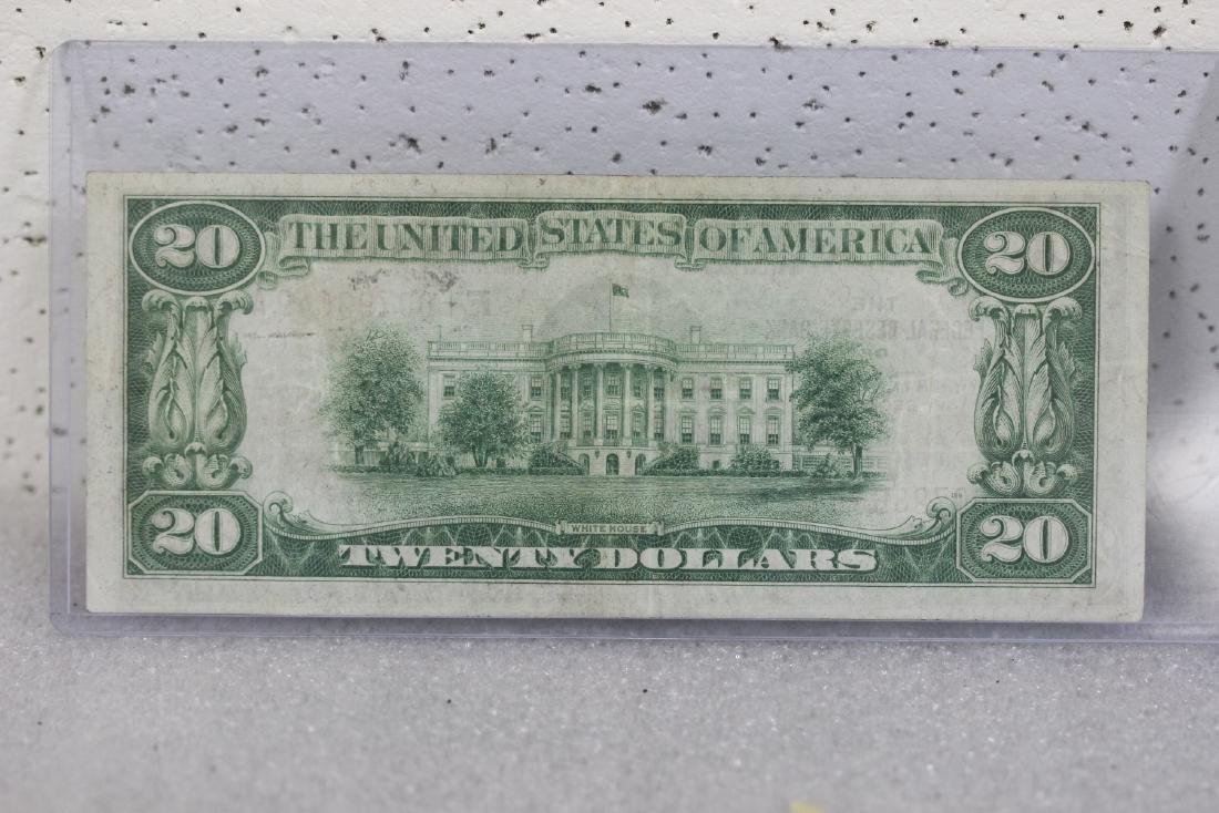 A $20.00 Atlanta, Georgia Federal Reserve Bank Note - - 3
