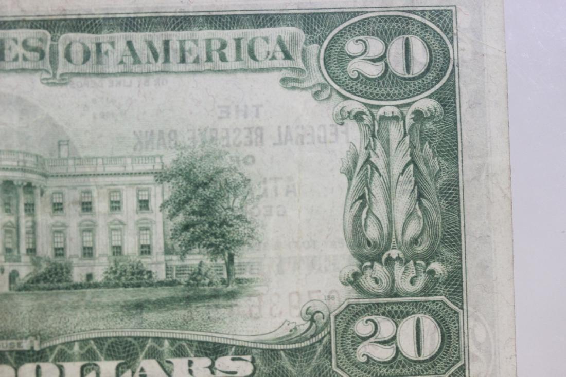 A $20.00 Atlanta, Georgia Federal Reserve Bank Note - - 5