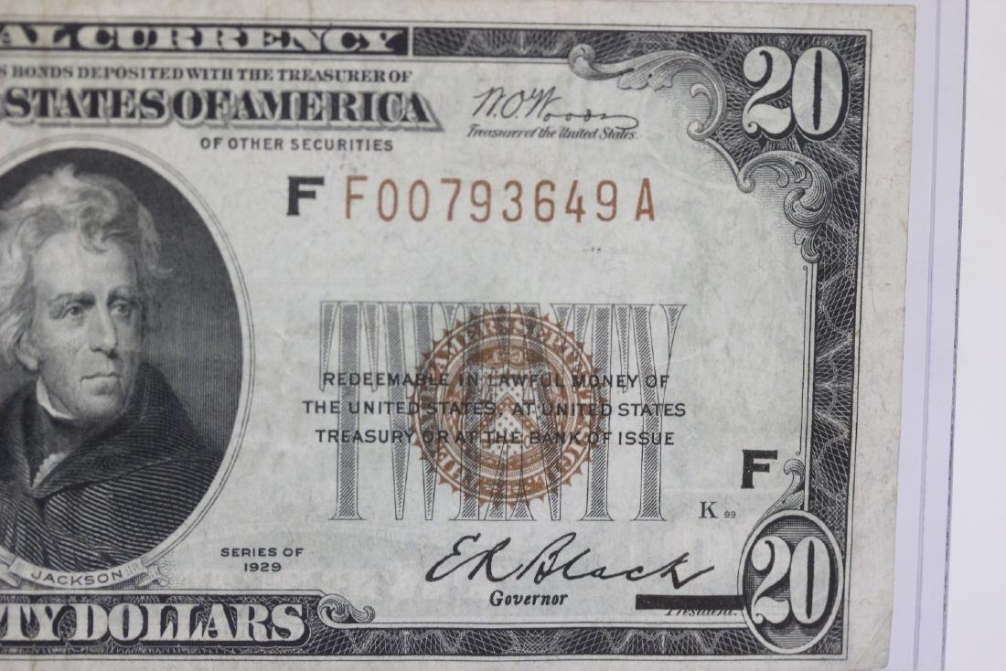 A $20.00 Atlanta, Georgia Federal Reserve Bank Note - - 7