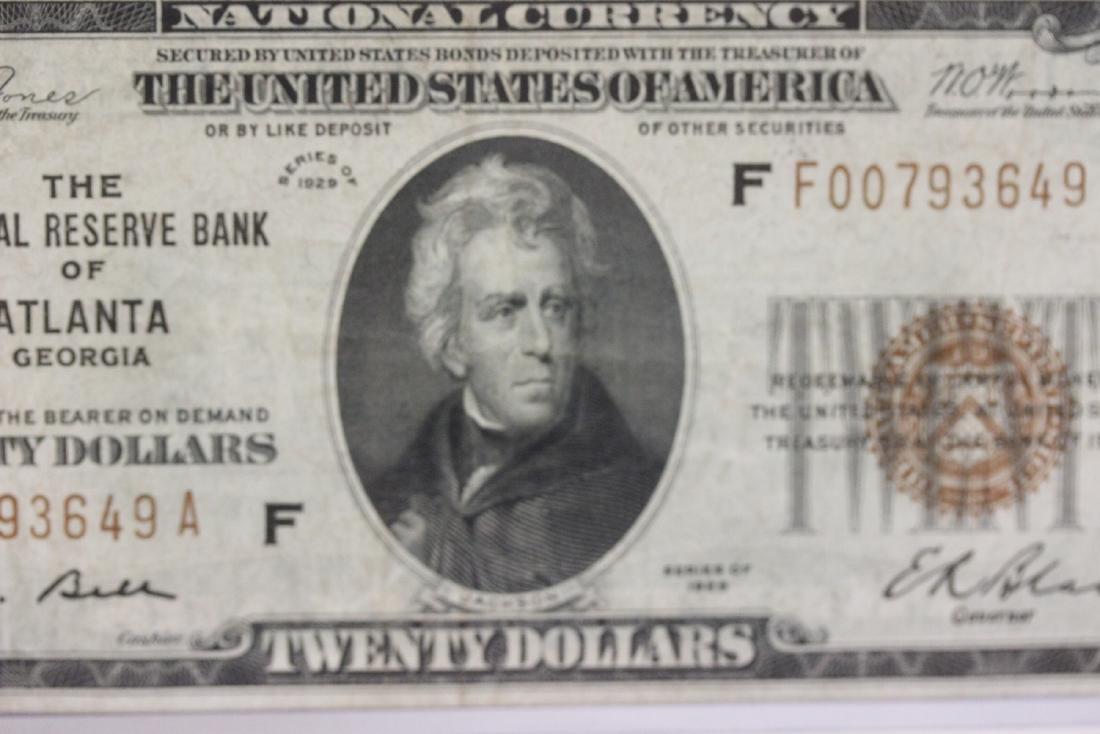 A $20.00 Atlanta, Georgia Federal Reserve Bank Note - - 8