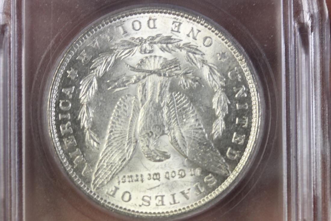 A Graded 1889 Morgan Silver Dollar - 4