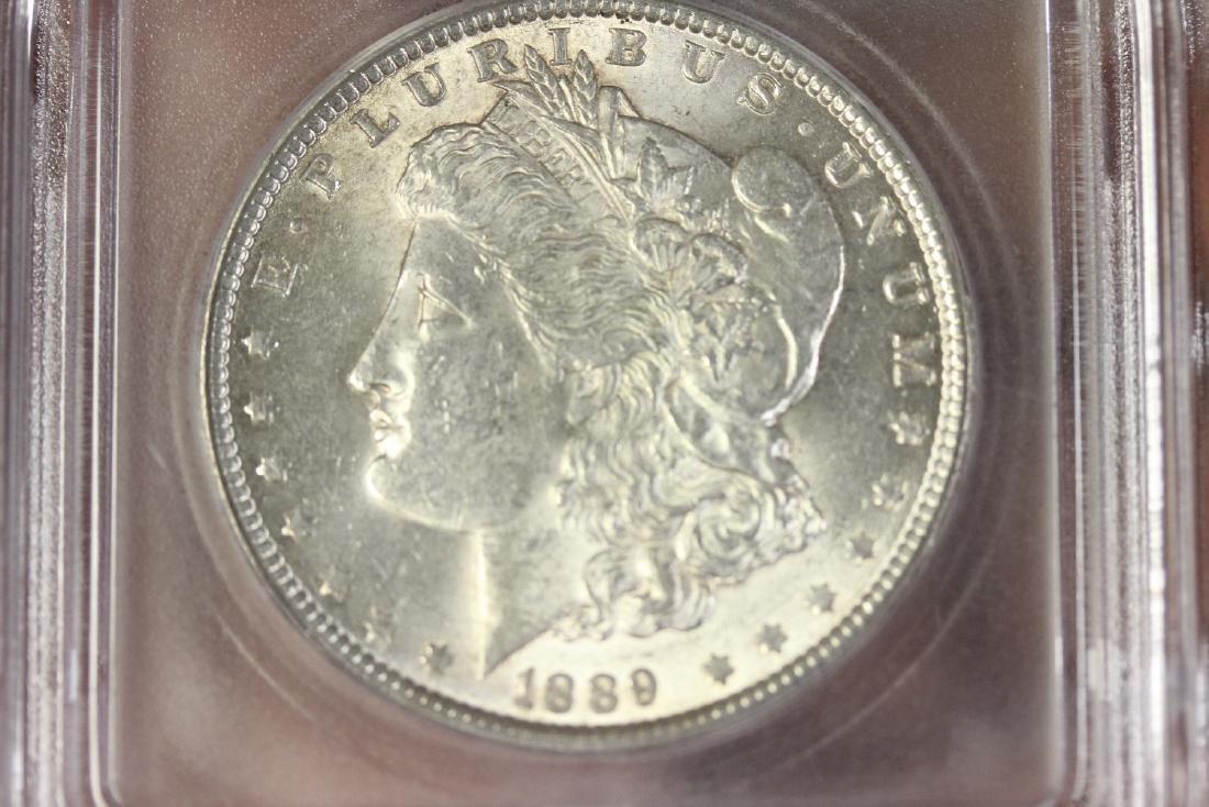 A Graded 1889 Morgan Silver Dollar - 5