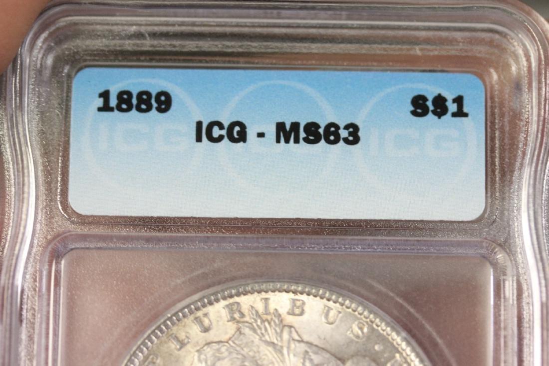 A Graded 1889 Morgan Silver Dollar - 6