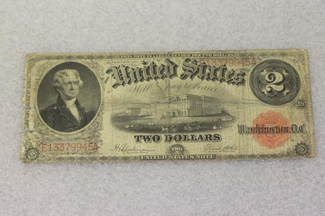 A 1917 Two Dollar Note