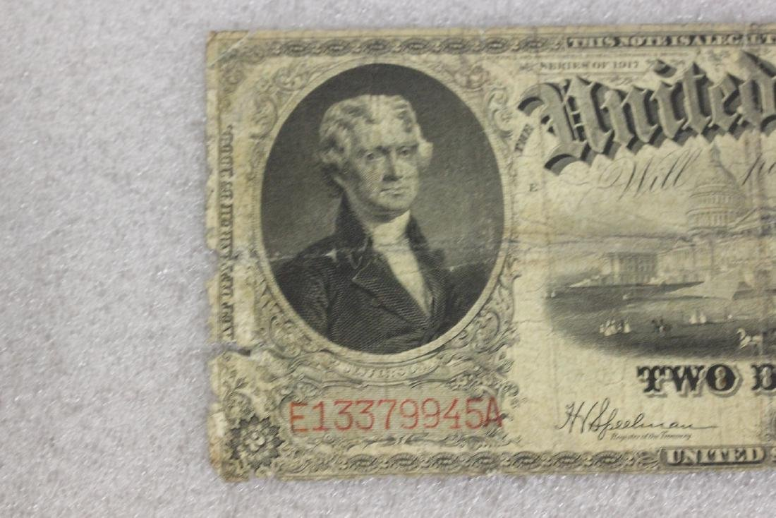 A 1917 Two Dollar Note - 2