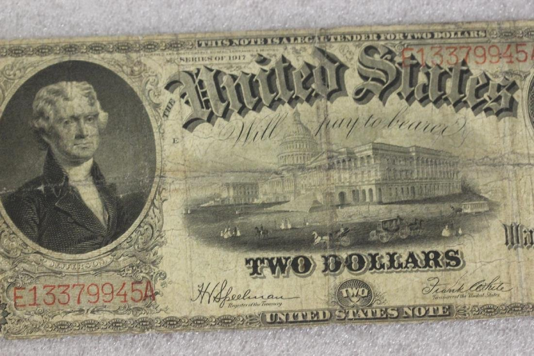 A 1917 Two Dollar Note - 3