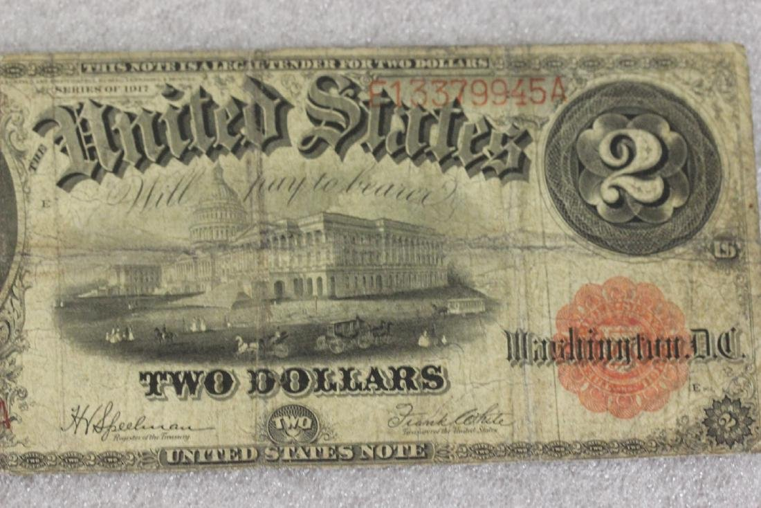A 1917 Two Dollar Note - 4
