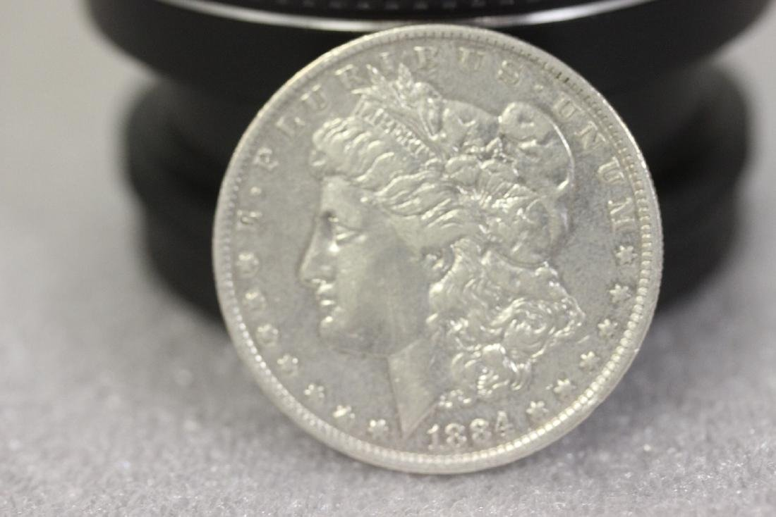 An 1884-O Morgan Silver Dollar