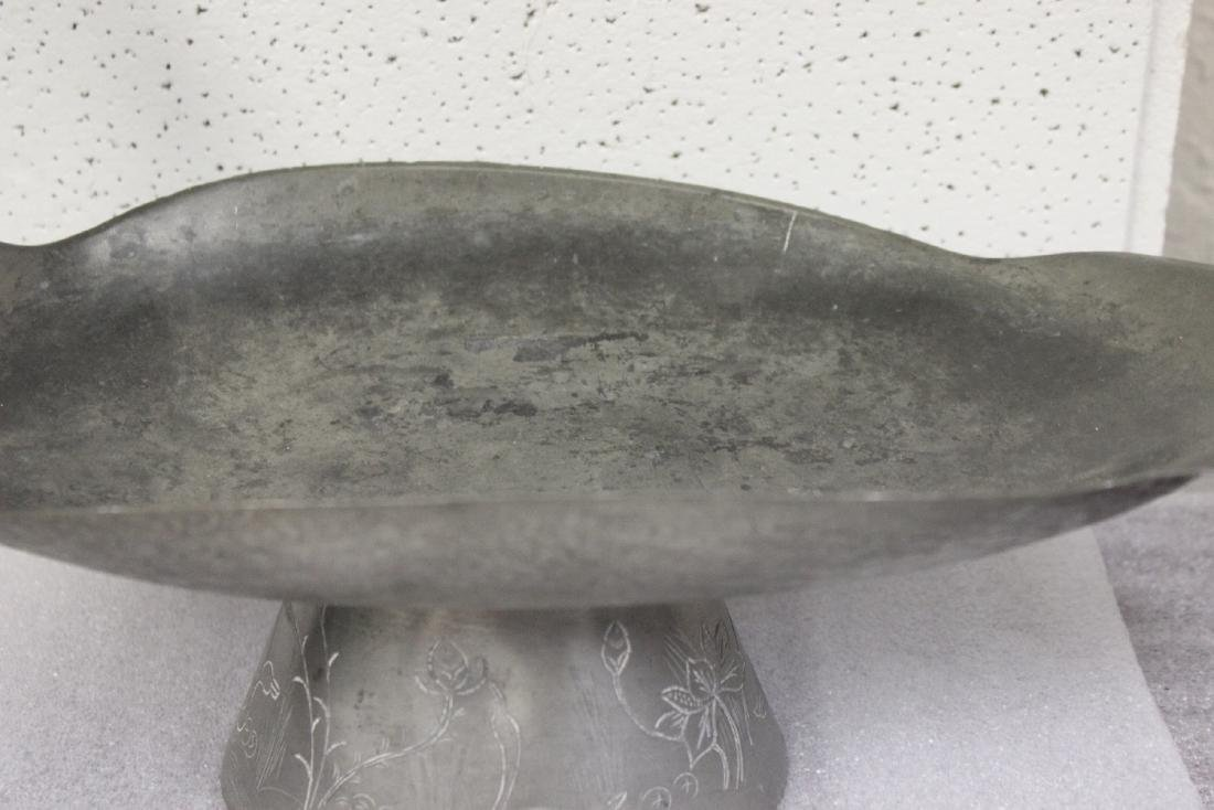 A Chinese Pewter Swan Form Dish - 2