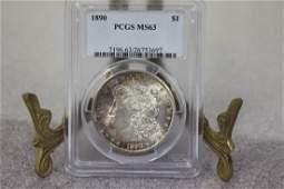 A 1890 Morgan Silver Dollar