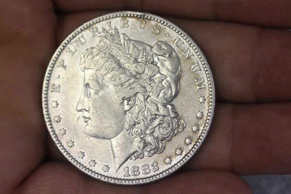 An 1882 Morgan Silver Dollar