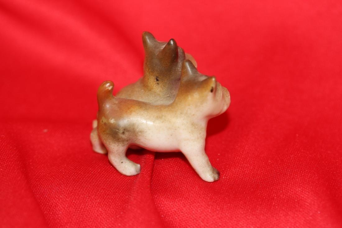 2 Pairs of Miniature  Ceramic Dogs - 4