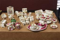Lot of 46 Miniature Limoge's Doll House furniture
