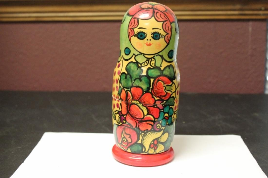 A Russian Matooshka Stacking Doll