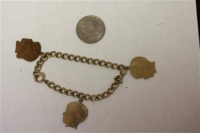 A Gold Filled Charm Bracelet