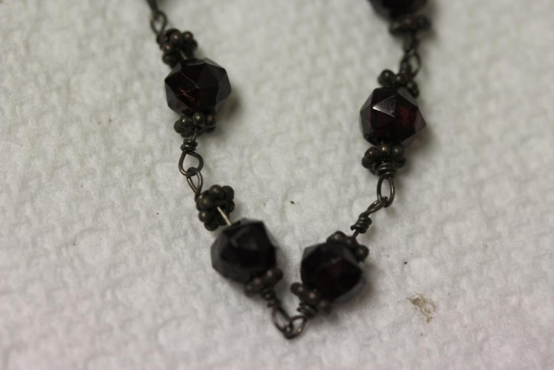 A Vintage Sterling and Quartz or Gemstone Necklace