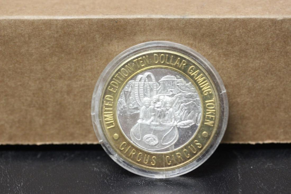 A .999 Silver and Brass Casino Token - 2
