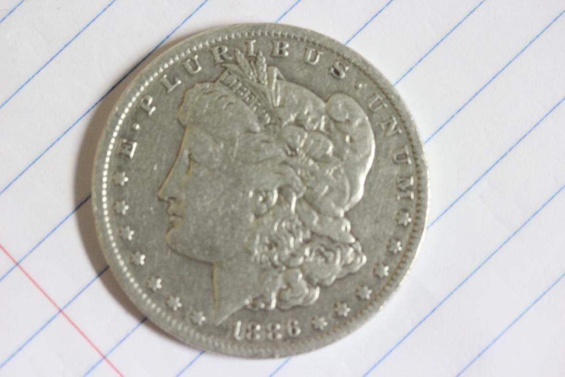 An 1886-O Morgan Silver Dollar