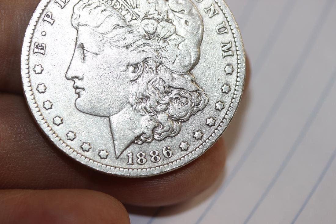 An 1886-O Morgan Silver Dollar - 3