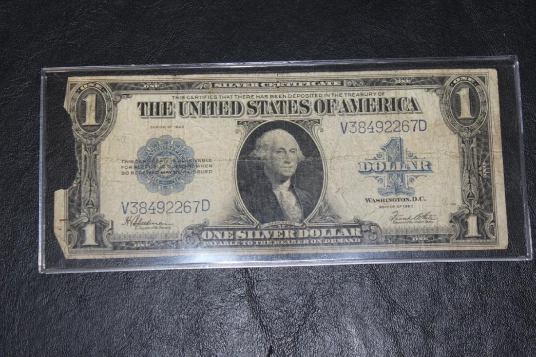A 1923 Large $1.00 Bill - Horse Blanket