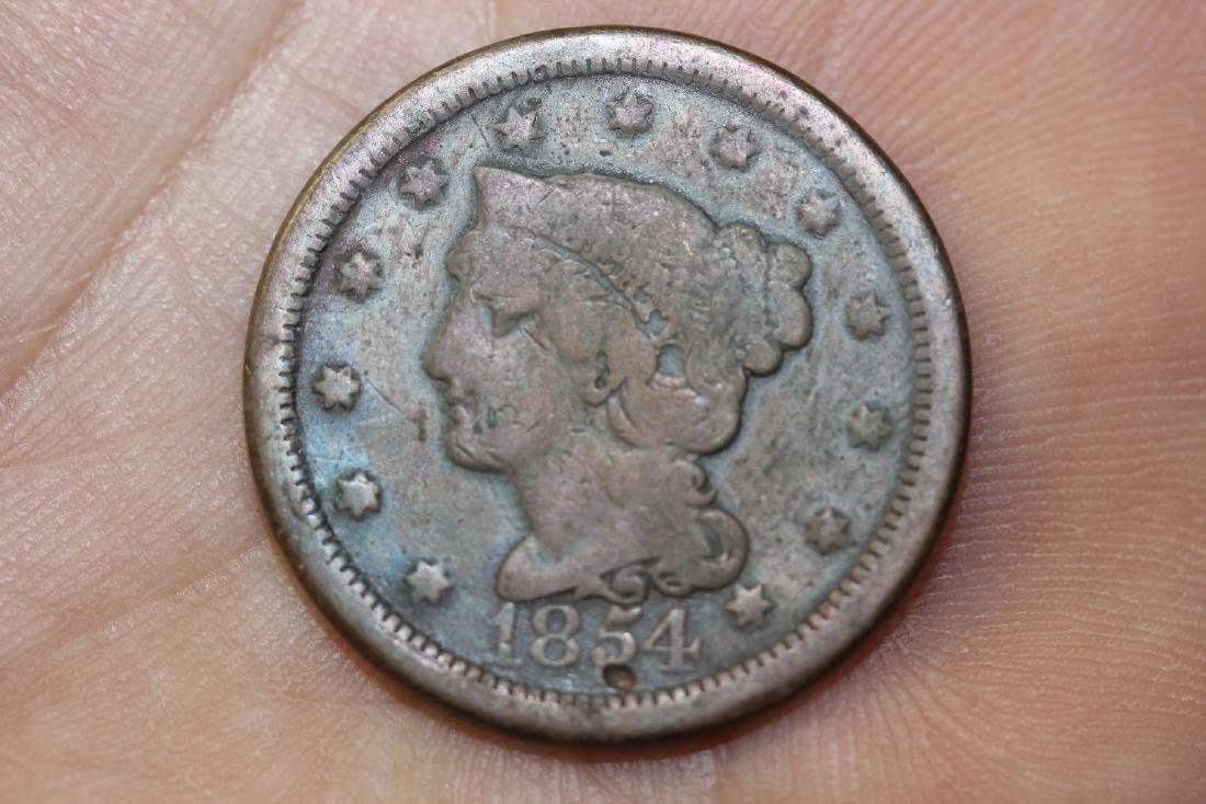 An 1854 Large Cent