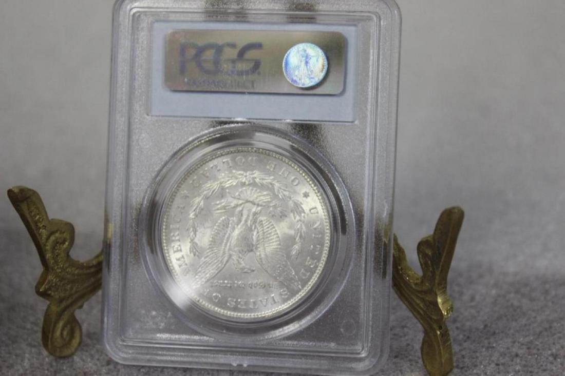 A Graded 1885 Morgan Silver Dollar - 2