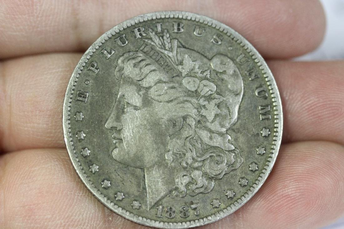 An 1887-O Morgan Silver Dollar