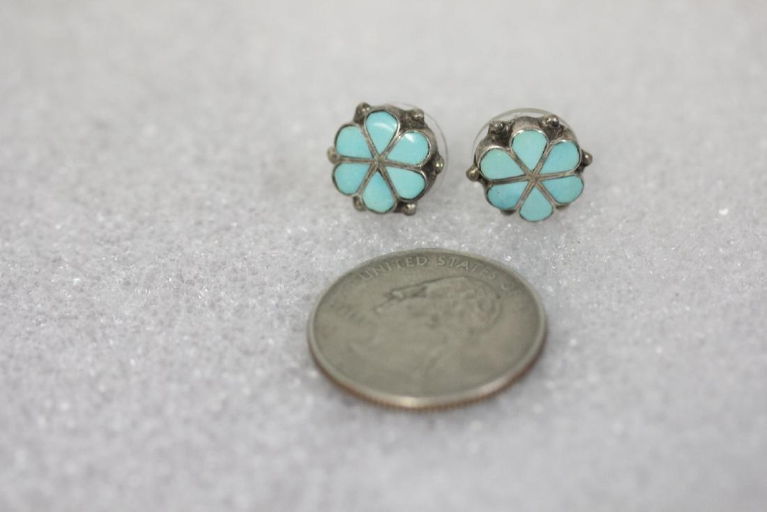 A Pair of Sterling and Enamel Earrings - 3