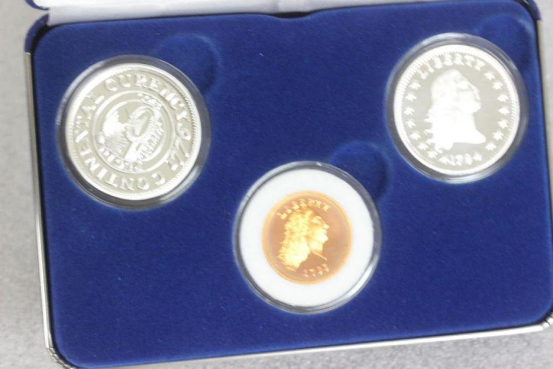 A Commemorative Silver 1776 and 1796 Liberty Set