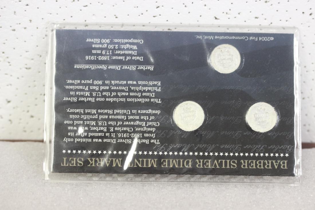 A Barber Silver Dime  Mint Mark Set - 2