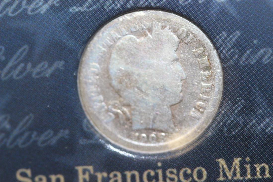 A Barber Silver Dime  Mint Mark Set - 3