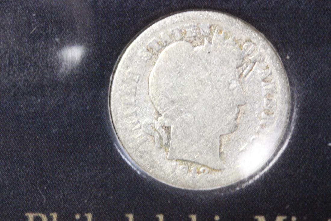 A Barber Silver Dime  Mint Mark Set - 5