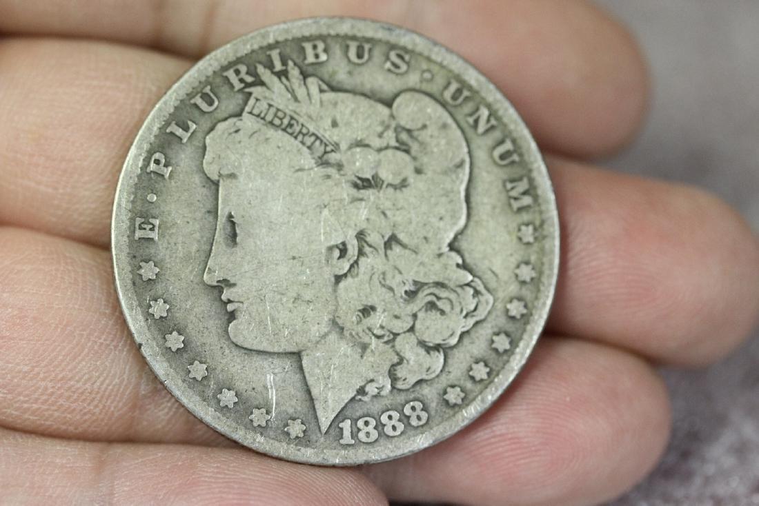 An 1888-O Morgan Silver Dollar