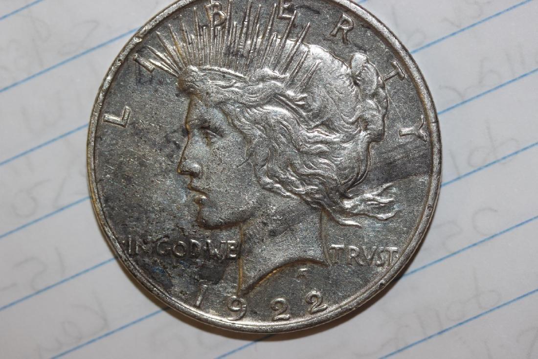A 1922-O Silver Peace Dollar