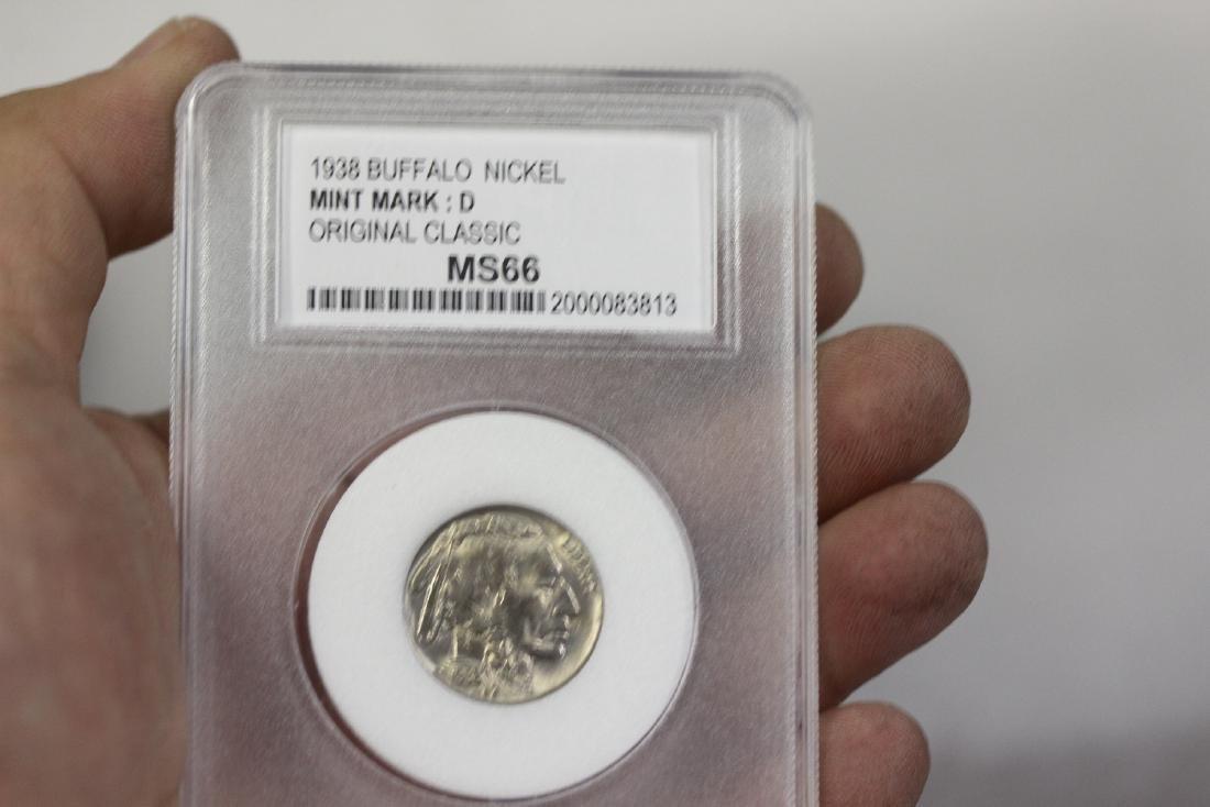 A Graded 1938 Buffalo Nickle