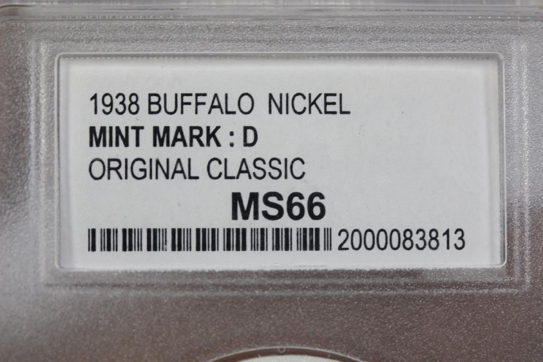 A Graded 1938 Buffalo Nickle - 3