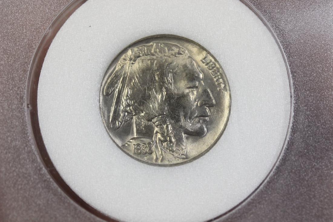 A Graded 1938 Buffalo Nickle - 4
