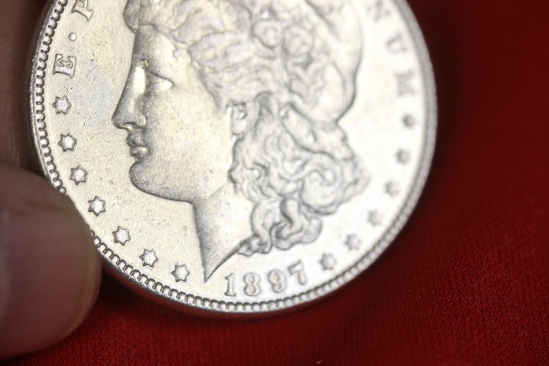 An 1897 Morgan Silver Dollar - 4