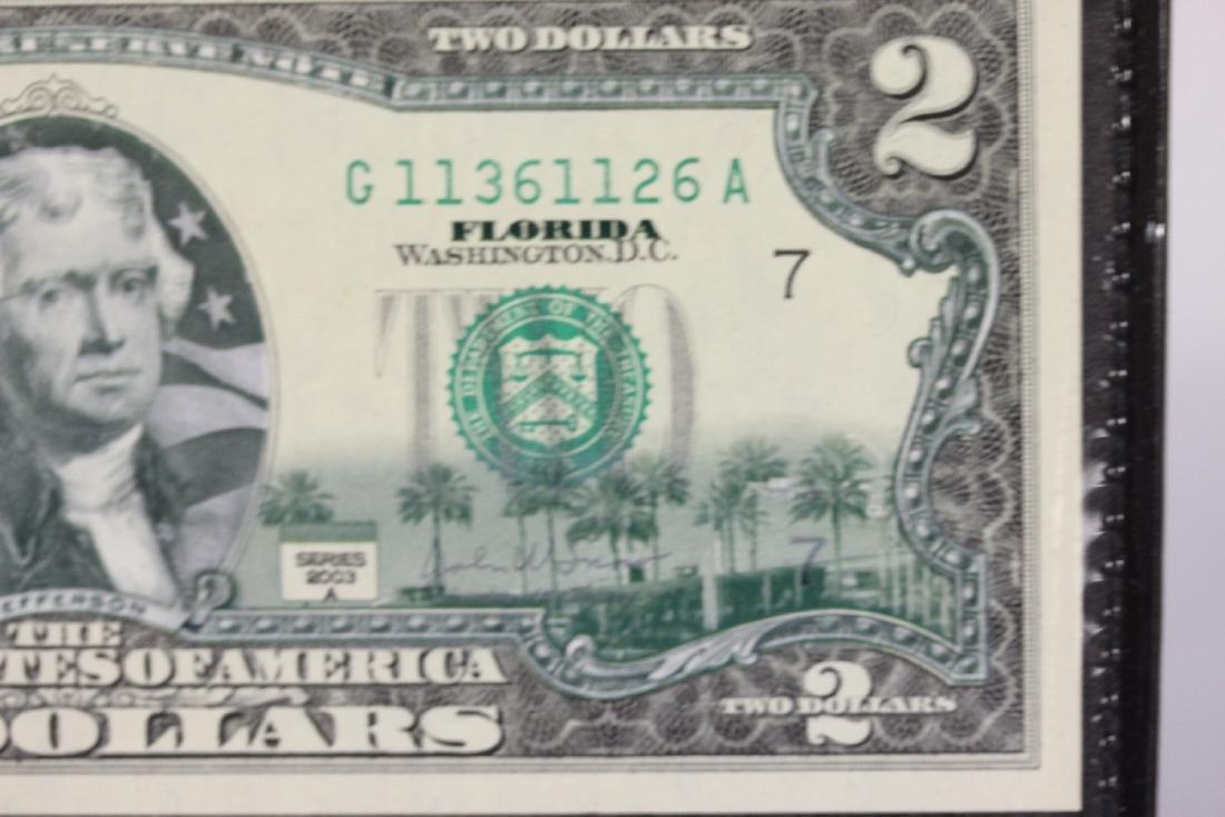 An Uncirculated Two Dollar Bill - 3